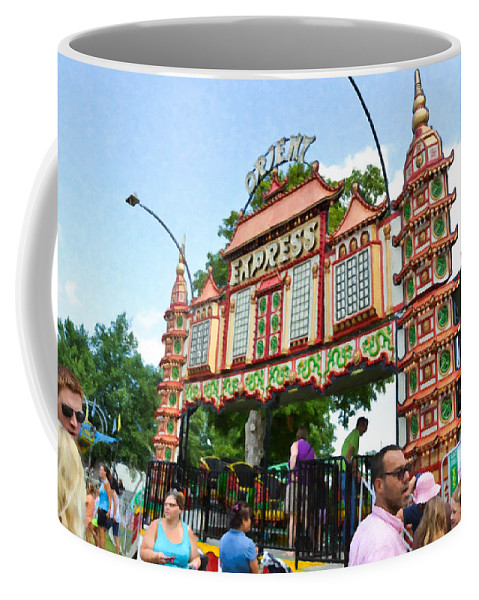Orient Express Coffee Mug featuring the painting Orient Express 1 by Jeelan Clark