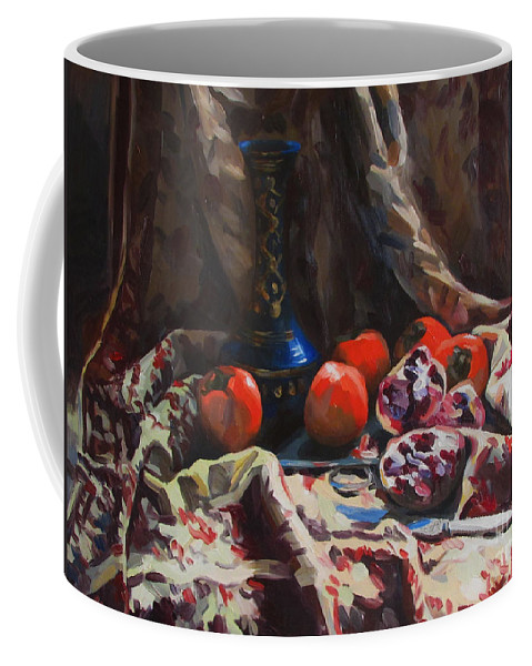 Still Life Coffee Mug featuring the painting Oriental Still Life by Kateryna Bortsova