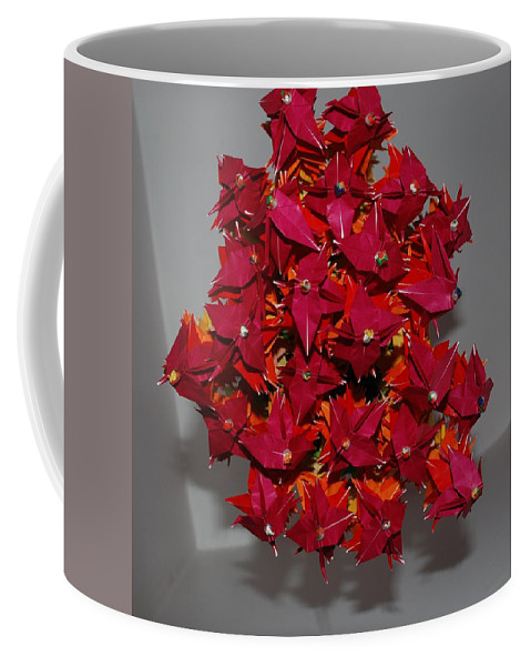 Origami Coffee Mug featuring the photograph Origami Flowers by Rob Hans