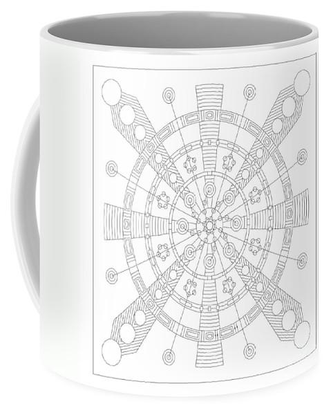 Relief Coffee Mug featuring the digital art Origin by DB Artist