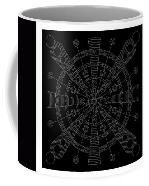 Relief Coffee Mug featuring the digital art Origin Inverse by DB Artist