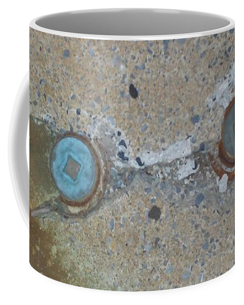 Photograph Coffee Mug featuring the photograph Original Damaged Pipes by Thomas Valentine