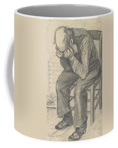 Art Coffee Mug featuring the painting orn Out The Hague November 1882 Vincent van Gogh 1853 1890 by Artistic Panda