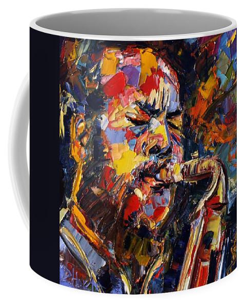 Jazz Coffee Mug featuring the painting Ornette Coleman by Debra Hurd