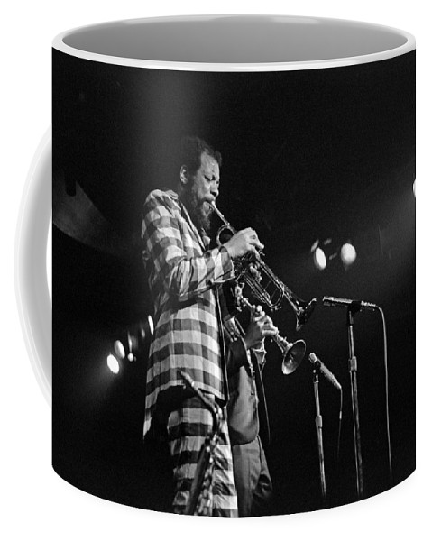 Ornette Colman Coffee Mug featuring the photograph Ornette Coleman On Trumpet by Lee Santa