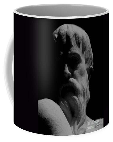 Black And White Coffee Mug featuring the photograph Orpheus Looks Back by RC DeWinter