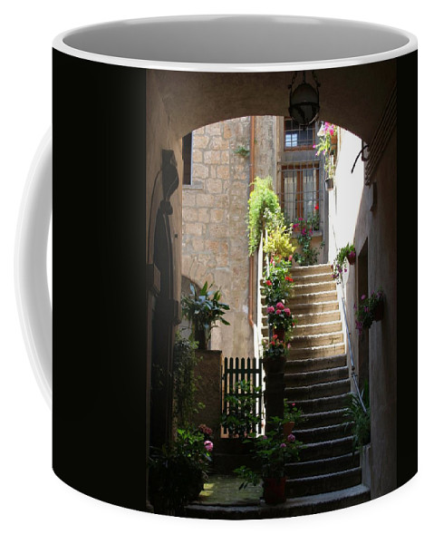 Cityscape Coffee Mug featuring the photograph Orvieto Arch by Rhoda Gerig
