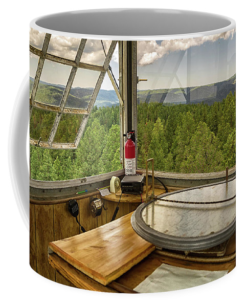 Fire Lookout Coffee Mug featuring the photograph Osborne Fire Finder by Nancy Gregory