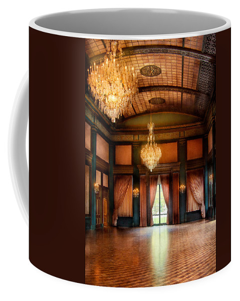 Hdr Coffee Mug featuring the photograph Other - The Ballroom by Mike Savad