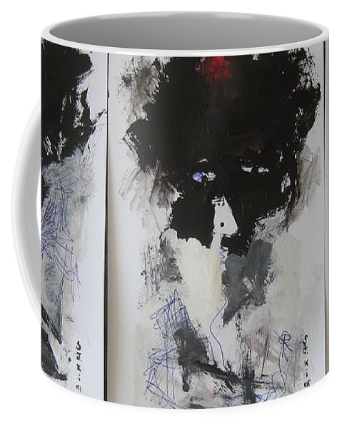 Original Coffee Mug featuring the painting Other Than 3 by Seon-Jeong Kim