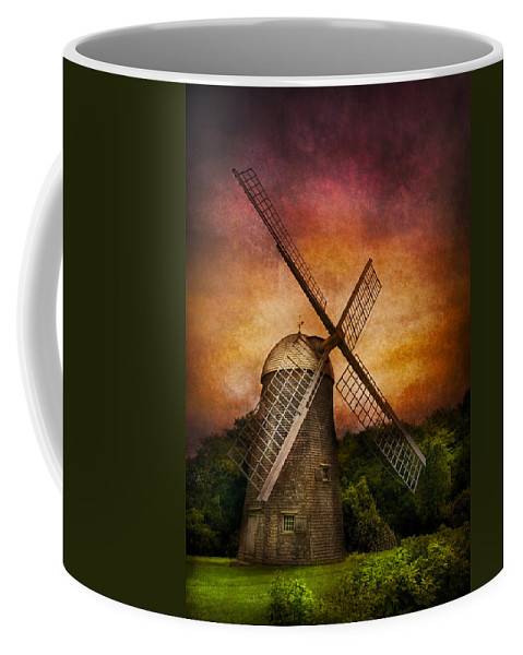 Hdr Coffee Mug featuring the photograph Other - Windmill by Mike Savad