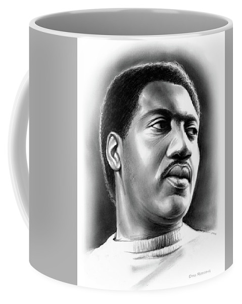 Otis Redding Coffee Mug featuring the drawing Otis Redding by Greg Joens