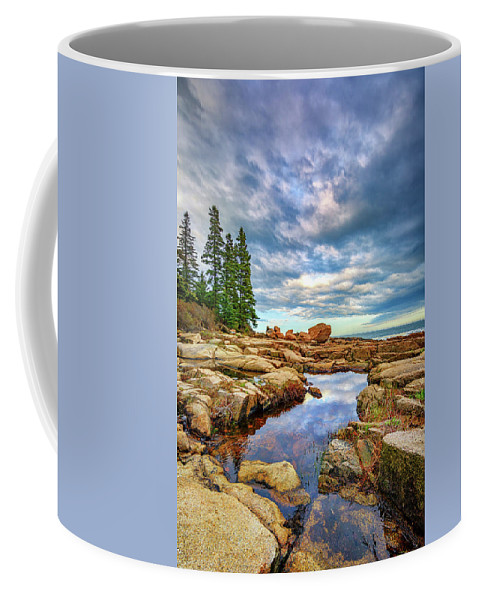 Maine Coffee Mug featuring the photograph Otter Point Reflections by Rick Berk