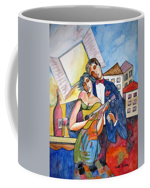 Music Coffee Mug featuring the painting Our Dream by Guri Stark