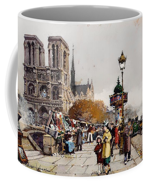 Painting Coffee Mug featuring the painting Our Lady For The Quai Saint-michel by Mountain Dreams