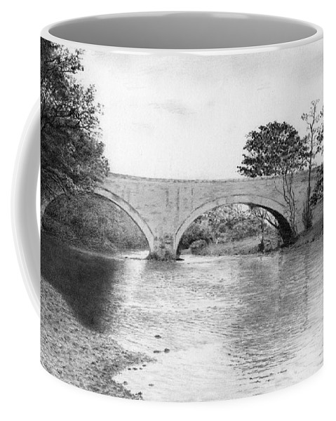 Landscape Coffee Mug featuring the drawing Ouse Bridge by David Mandle