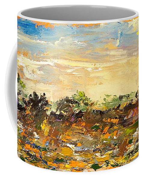 Landscape Coffee Mug featuring the painting Out by Alan Lakin