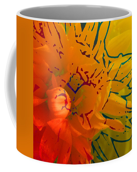 Abstract Coffee Mug featuring the mixed media Out Of It by Ruth Palmer