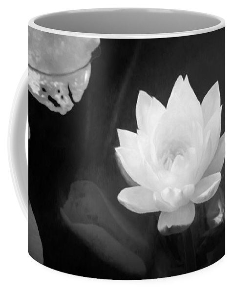 Out Of The Depths Bw Coffee Mug featuring the photograph Out Of The Depths Bw by Bonnie Follett