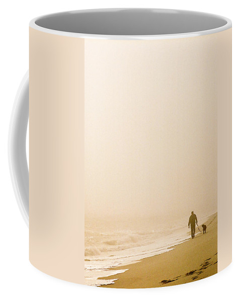 Landscape Coffee Mug featuring the photograph Out Of The Mist by Steve Karol