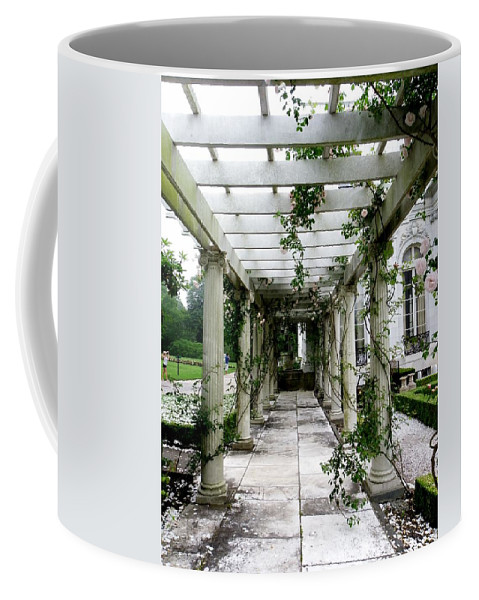 Walkway Coffee Mug featuring the photograph Out To The Garden by Charleen Treasures
