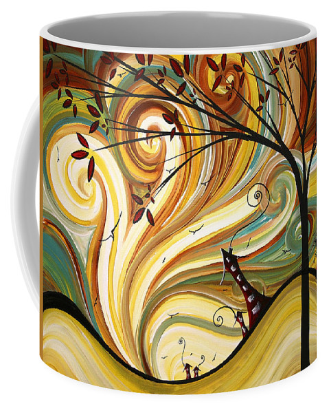 Art Coffee Mug featuring the painting Out West Original Madart Painting by Megan Duncanson