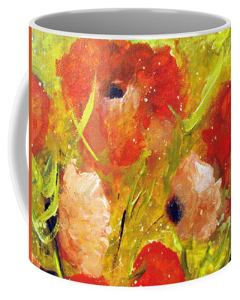 Decorative Coffee Mug featuring the painting Out With The Sun by Ruth Palmer