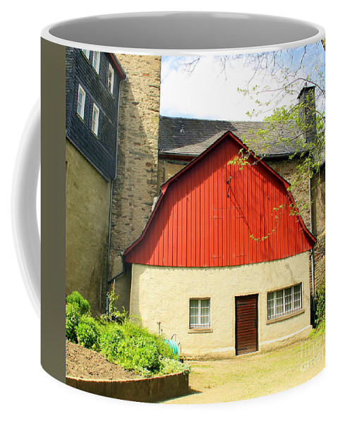 Outbuilding Coffee Mug featuring the photograph Outbuilding. Germany by Maria Douwma