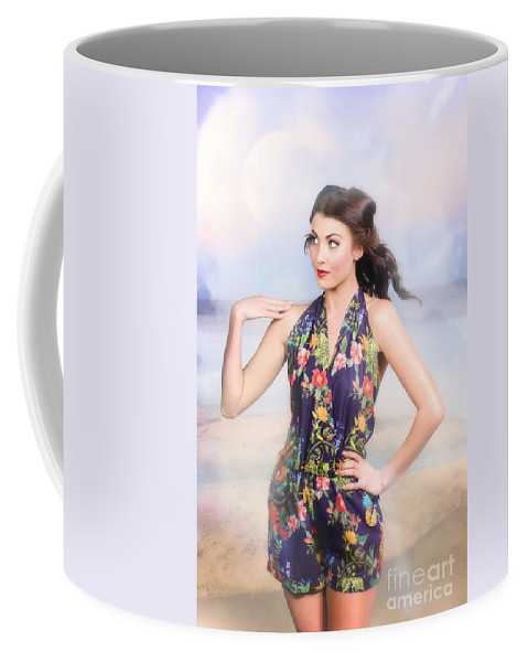 Fashion Coffee Mug featuring the photograph Outdoor Fashion Portrait. Spring Twilight Beauty by Jorgo Photography - Wall Art Gallery
