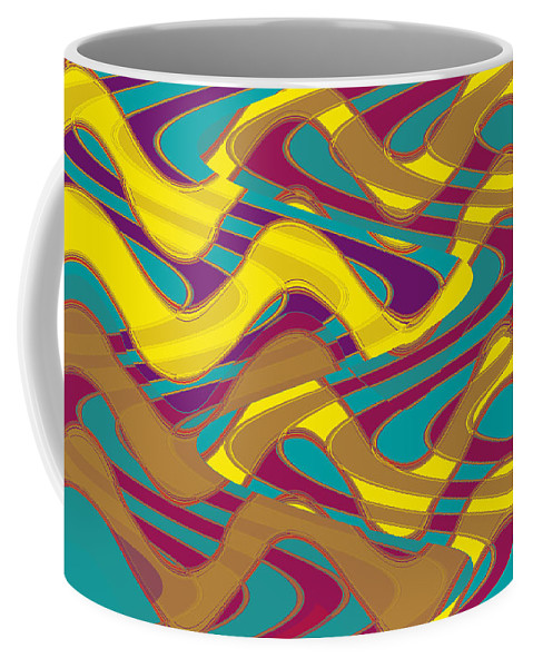 Abstract Outer 16 Coffee Mug featuring the digital art Outer 16 by John Saunders