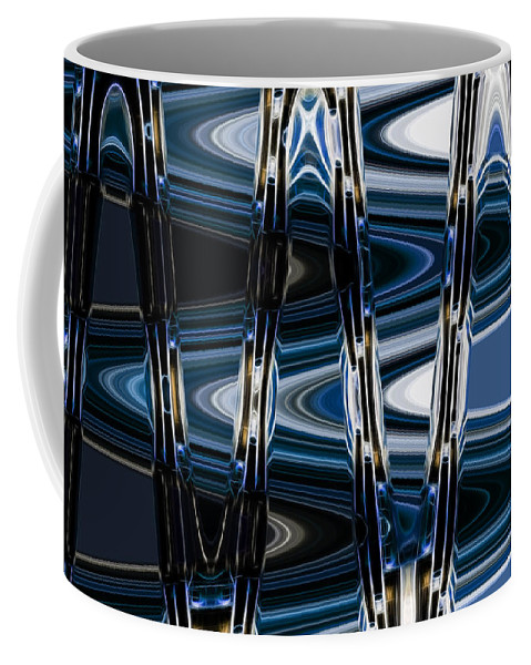Abstract Outer 5 Coffee Mug featuring the digital art Outer 5 by John Saunders