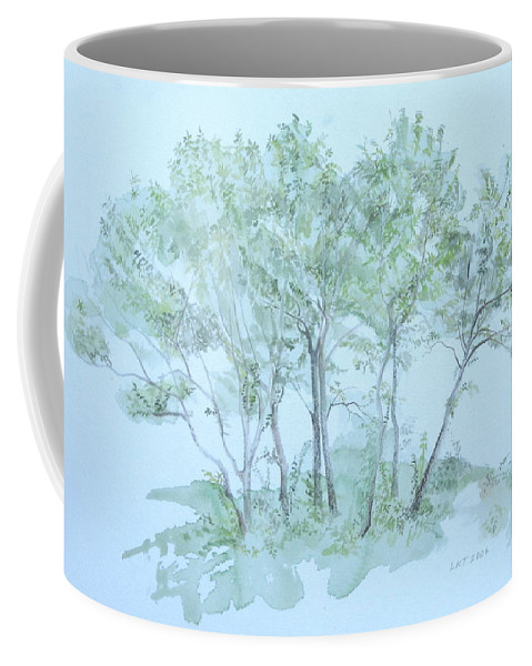 Trees Coffee Mug featuring the painting Outer Banks by Leah Tomaino