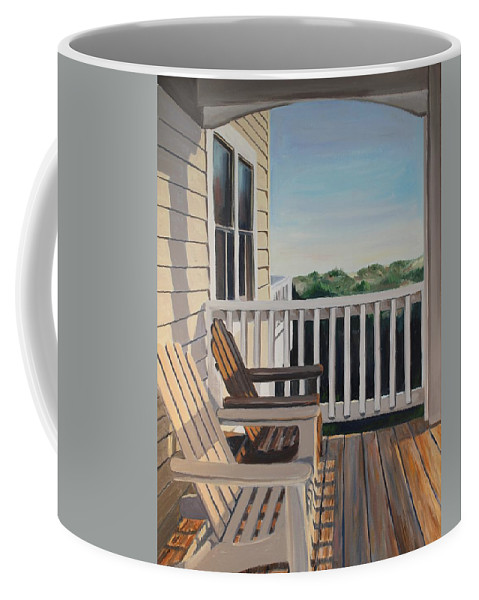 Corolla Coffee Mug featuring the painting Outer Banks Morning Sun by Elizabeth Blanchard