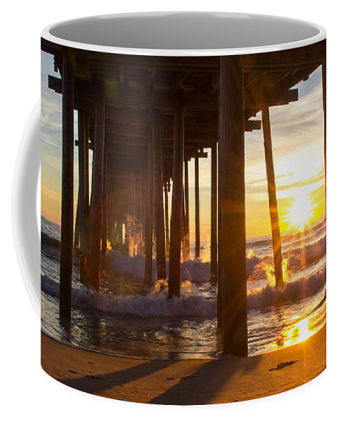 Outer Banks Coffee Mug featuring the photograph Outer Banks Sunrise by Erin McCandless