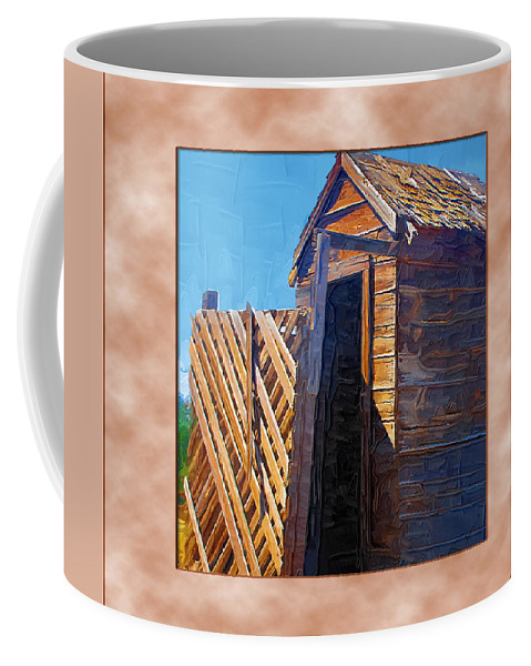 Outhouses Coffee Mug featuring the photograph Outhouse 2 by Susan Kinney