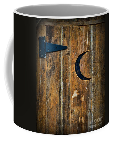 Outhouse Coffee Mug featuring the photograph Outhouse Door by Paul Ward