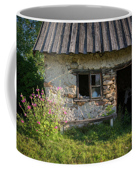 Cottage Coffee Mug featuring the photograph Outhouse by Ludwig Riml