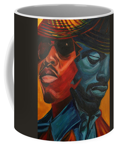 Big Boi Coffee Mug featuring the painting Outkast by Kate Fortin