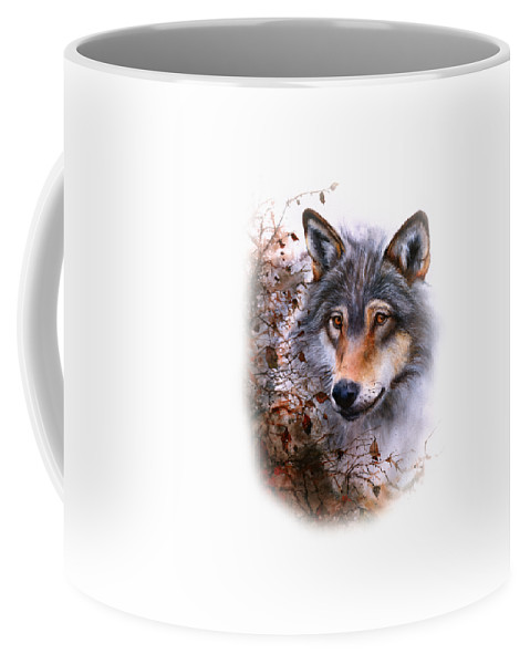 Wolf Coffee Mug featuring the painting Outlawed Tee by Peter Williams