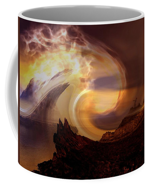 Light Coffee Mug featuring the digital art Outpouring by Steve Kelly