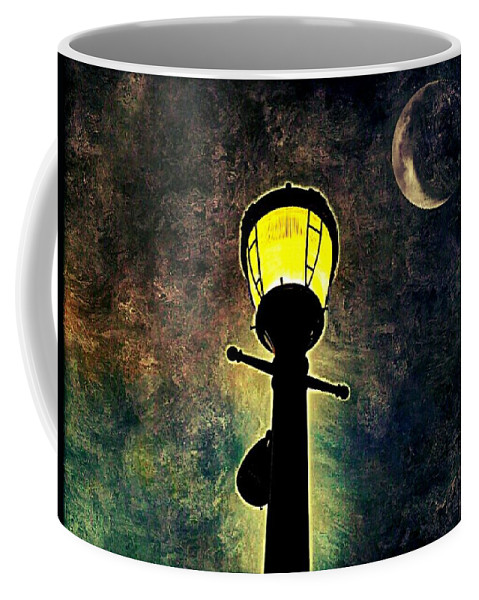 Lantern Coffee Mug featuring the photograph Outshined by Shelley Smith