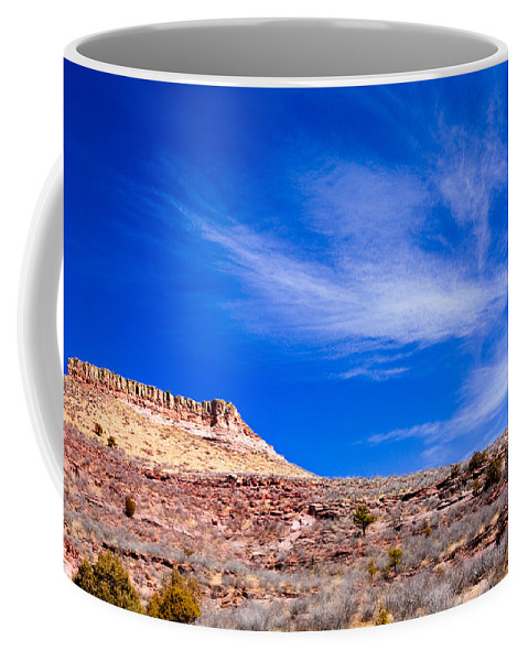 Red Coffee Mug featuring the photograph Outside Lyons Colorado by Marilyn Hunt