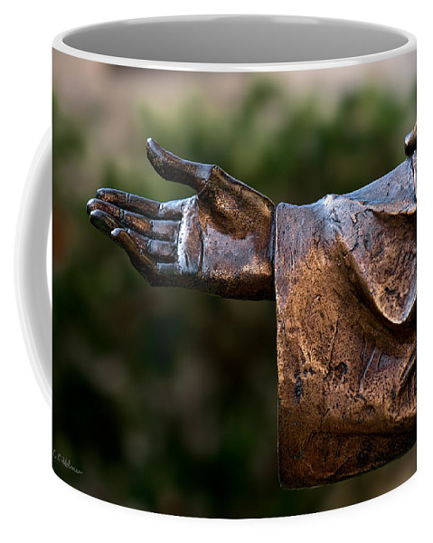 Han Coffee Mug featuring the photograph Outstretched Hand by Christopher Holmes