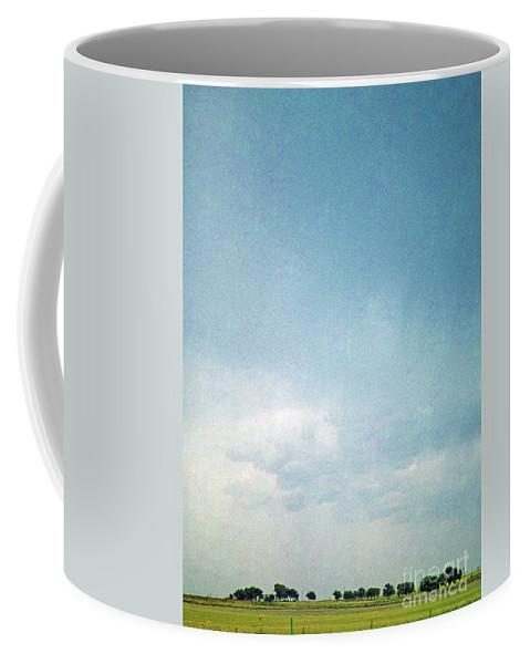 Big Sky Coffee Mug featuring the photograph Over Kansas by David Nicholson