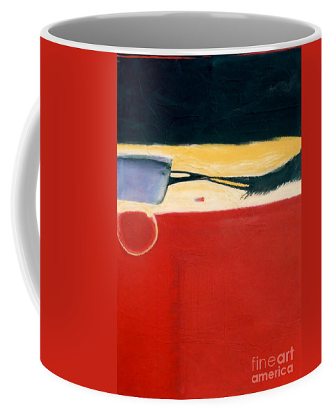 Red Coffee Mug featuring the painting Over Optics by Marlene Burns