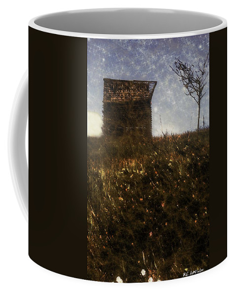 Autumn Coffee Mug featuring the painting Over The Hill by RC DeWinter