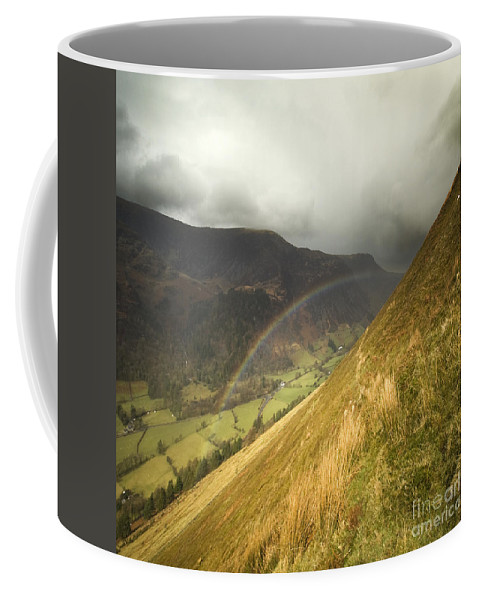 Rainbow Coffee Mug featuring the photograph Over The Rainbow by Angel Ciesniarska