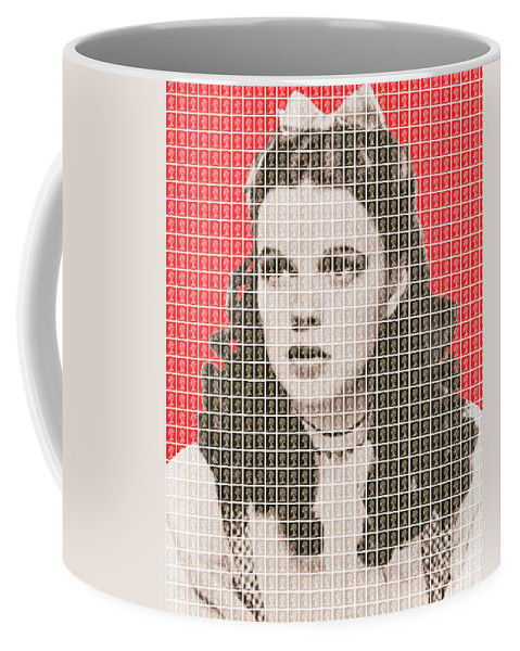 Judy Garland Coffee Mug featuring the painting Over The Rainbow Red by Gary Hogben