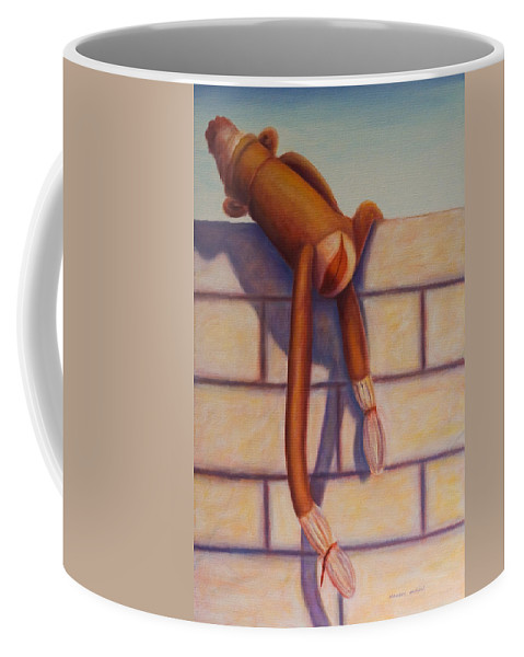Children Coffee Mug featuring the painting Over The Top by Shannon Grissom