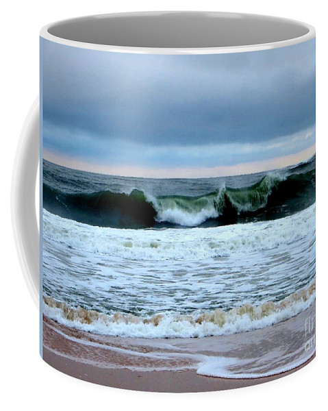 Waves Coffee Mug featuring the photograph Over The Top by Tim Townsend